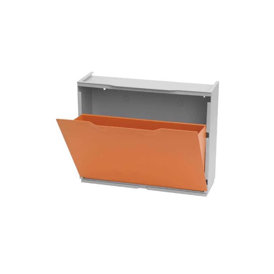 Scarpiere Componibili In Plastica.Scarpiera In Resina Componibile 51x41x17 Arancione Plastica Modulare