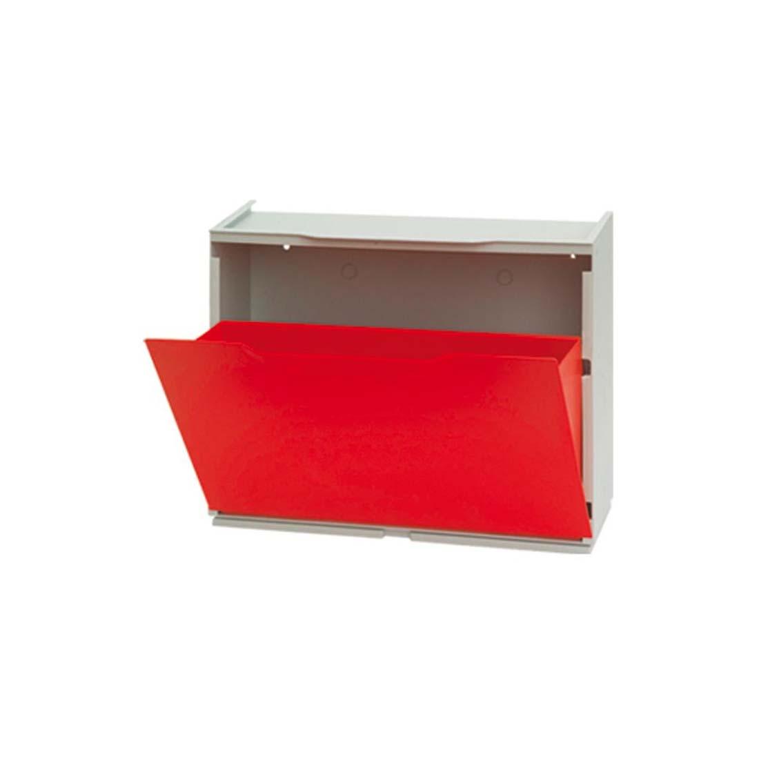 Scarpiere Componibili In Plastica.Scarpiera In Resina Componibile 51x41x17 Rossa Plastica Modulare